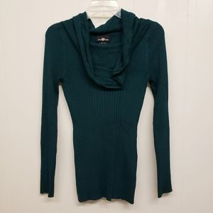 Like New! Cowl Neck Sweater, Dark Green